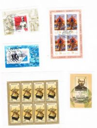 5 different East Germany Souvenir and Miniature Sheets packet